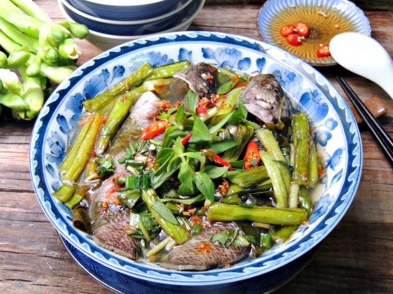 Canh cá rô đồng nấu khế