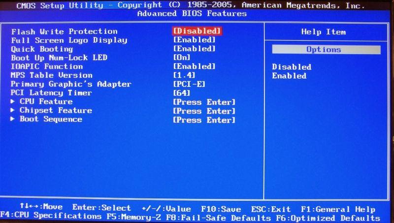 Điều chỉnh BIOS