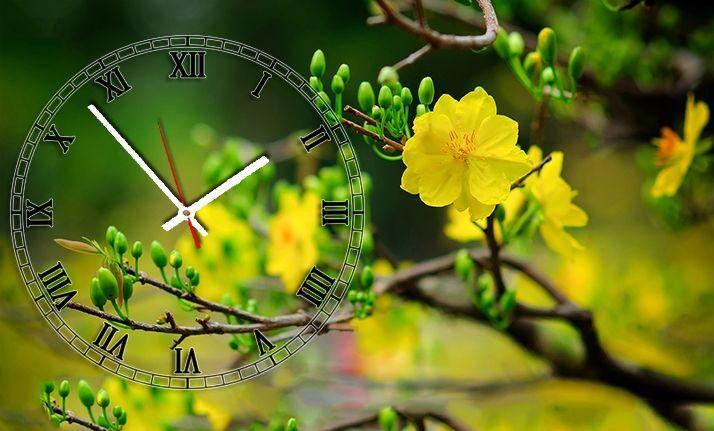 Đồng hồ để bàn Hoa mai đón Tết SueMall