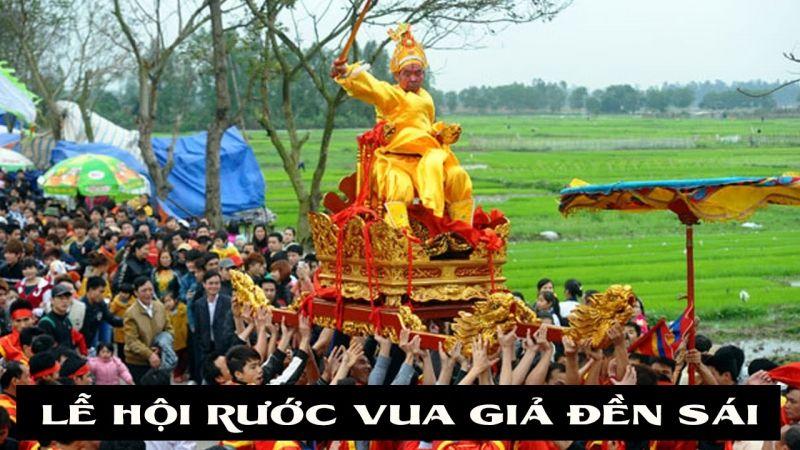Hội rước vua giả Đền Sái