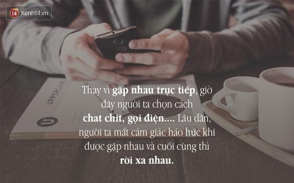 Không nên nói chuyện điện thoại hay chat với nhau quá lâu mỗi ngày.
