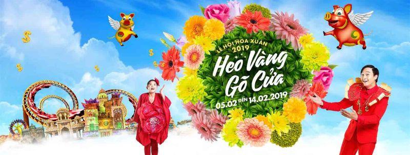 "Lễ hội hoa xuân ""heo vàng gõ cửa""Sun World Danang Wonders"