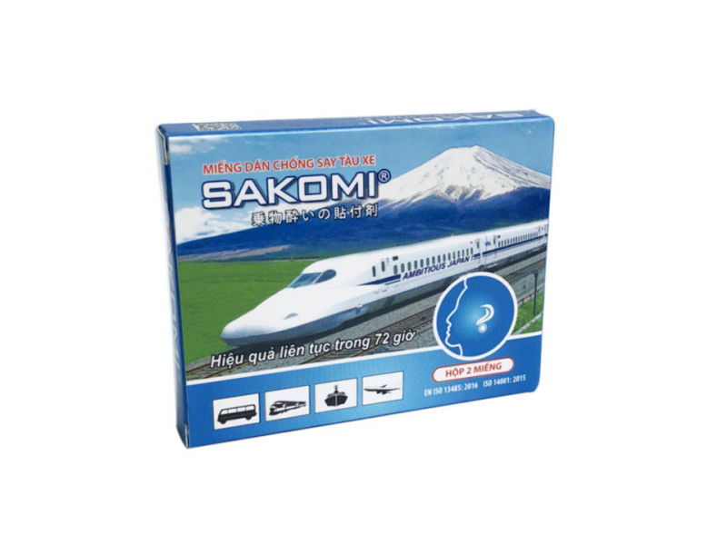 Miếng dán chống say tàu xe Sakomi