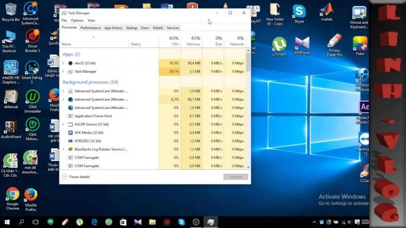 Tắt bớt các chương trình khởi động cùng máy tính