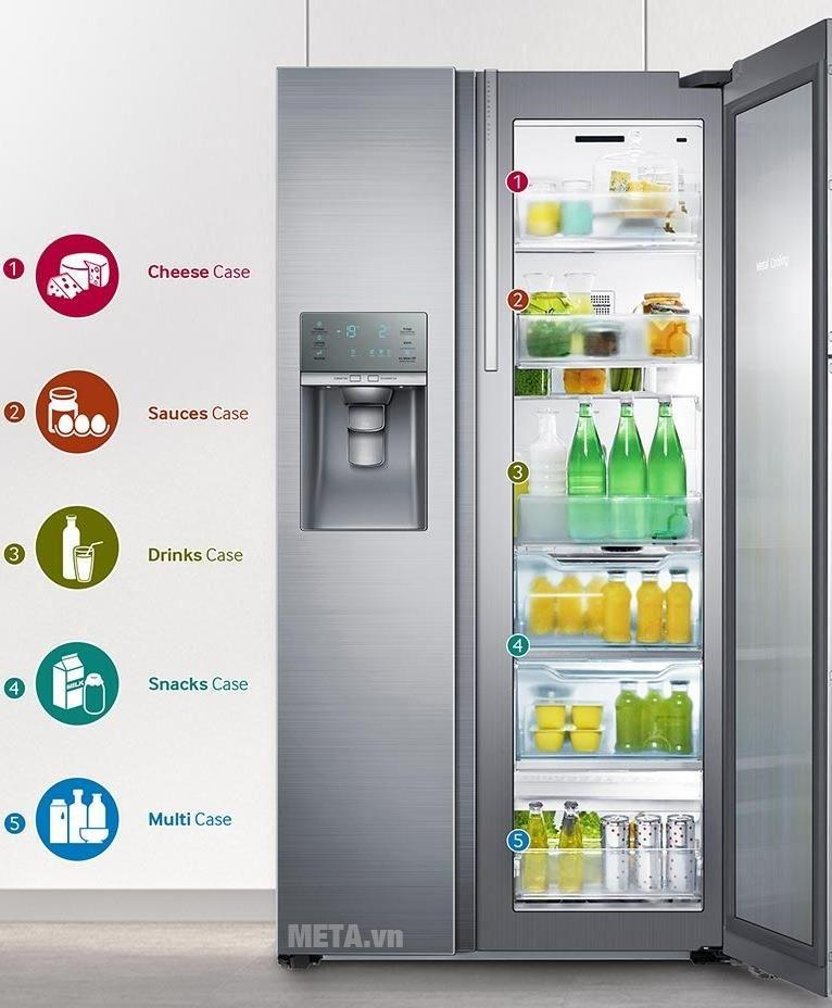 Tủ lạnh side by side 570 lít Samsung RH57J90407F