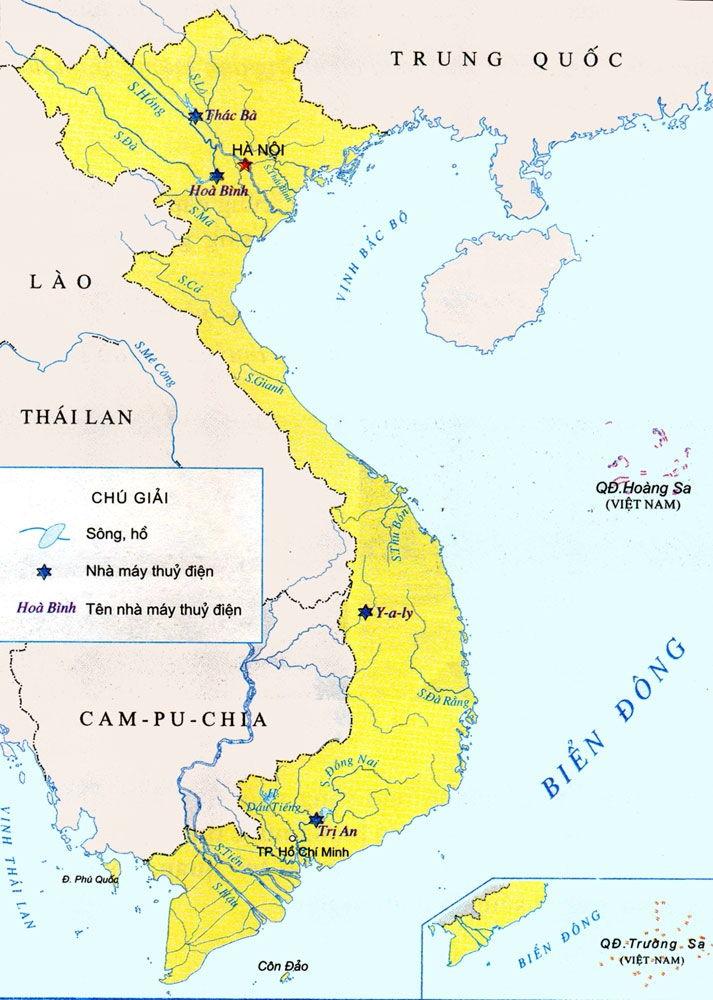 Bài văn tả tấm bản đồ Việt Nam số 2