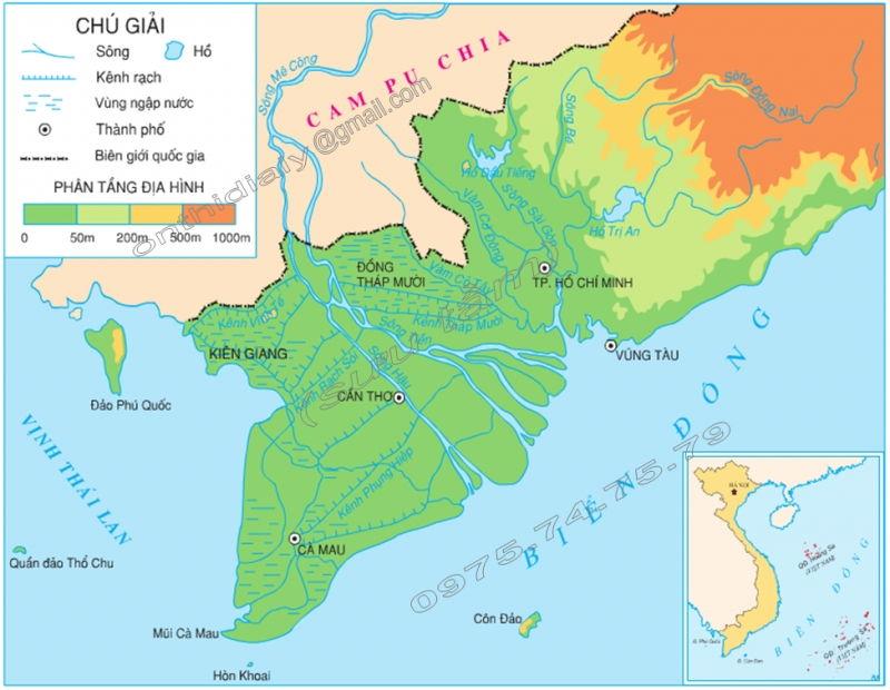 Bài văn tả tấm bản đồ Việt Nam số 3