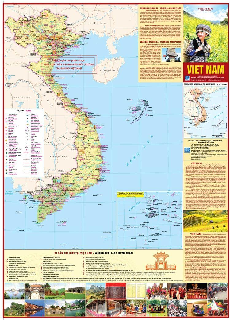Bài văn tả tấm bản đồ Việt Nam số 5