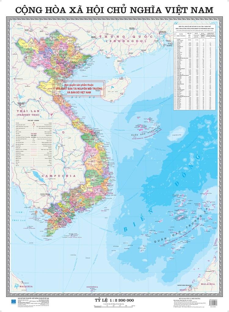 Bài văn tả tấm bản đồ Việt Nam số 7