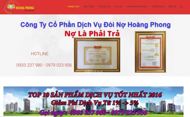 Công ty CP dịch vụ đòi nợ Hoàng Phong