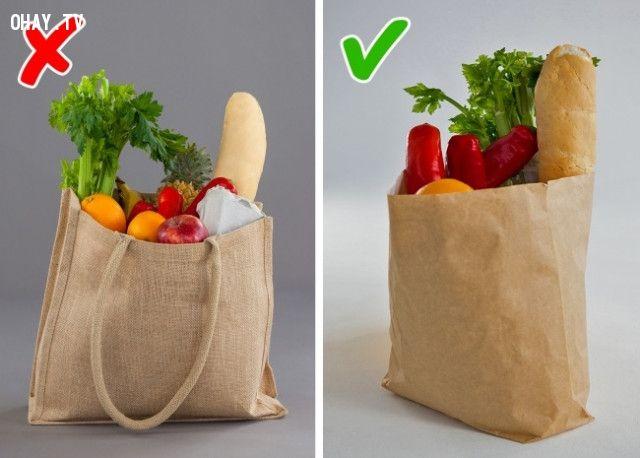 Dùng túi đựng thức ăn nhiều lần