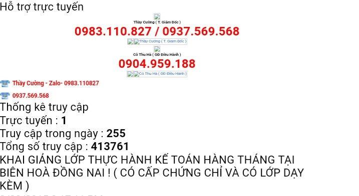 Lớp thực hành kế toán  Biên Hòa - Đồng Nai