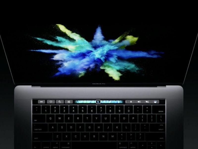 Dải phím cảm ứng đa điểm OLED hiển thị (Touchbar)