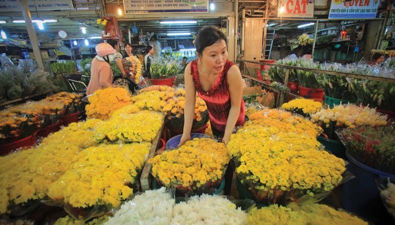 Chợ hoa Đầm Sen