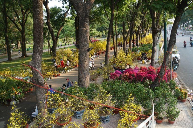 Chợ hoa tết công viên Lê Thị Riêng