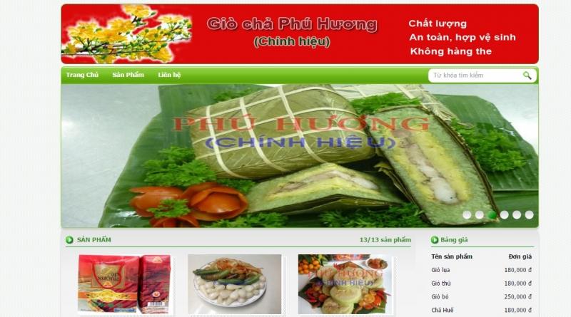 Giò chả Phú Hương