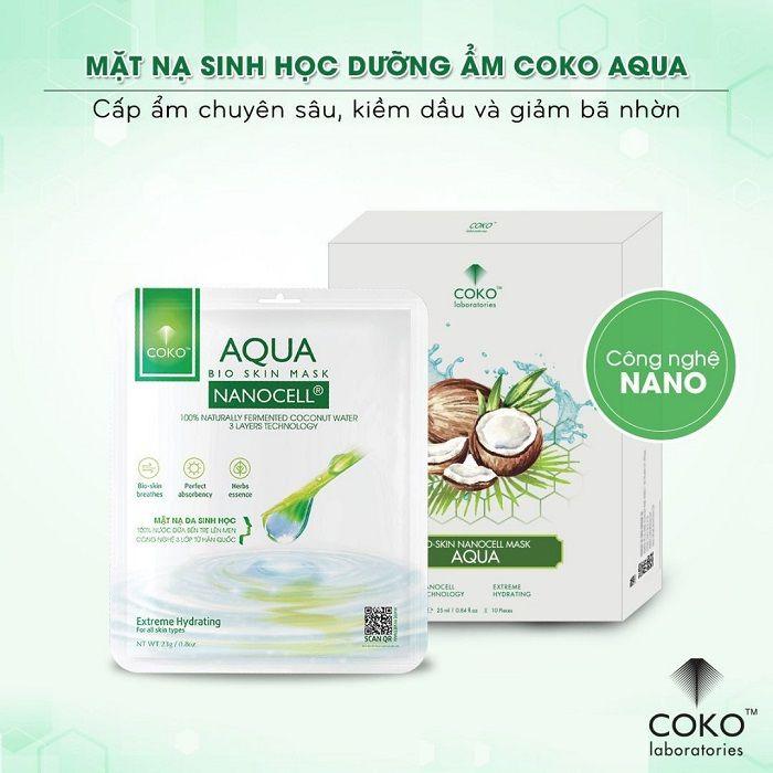 Mặt nạ sinh học dưỡng độ ướt Coko Aqua Bio Skin Mask
