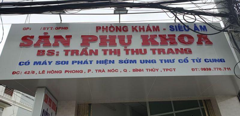 Phòng Khám Sản Phụ Khoa BS, Trần Thị Thu Trang