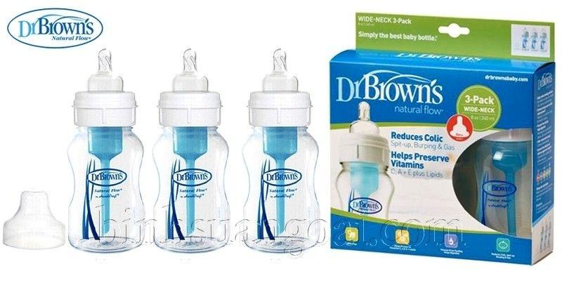 Bình sữa Dr Brown chống đầy hơi