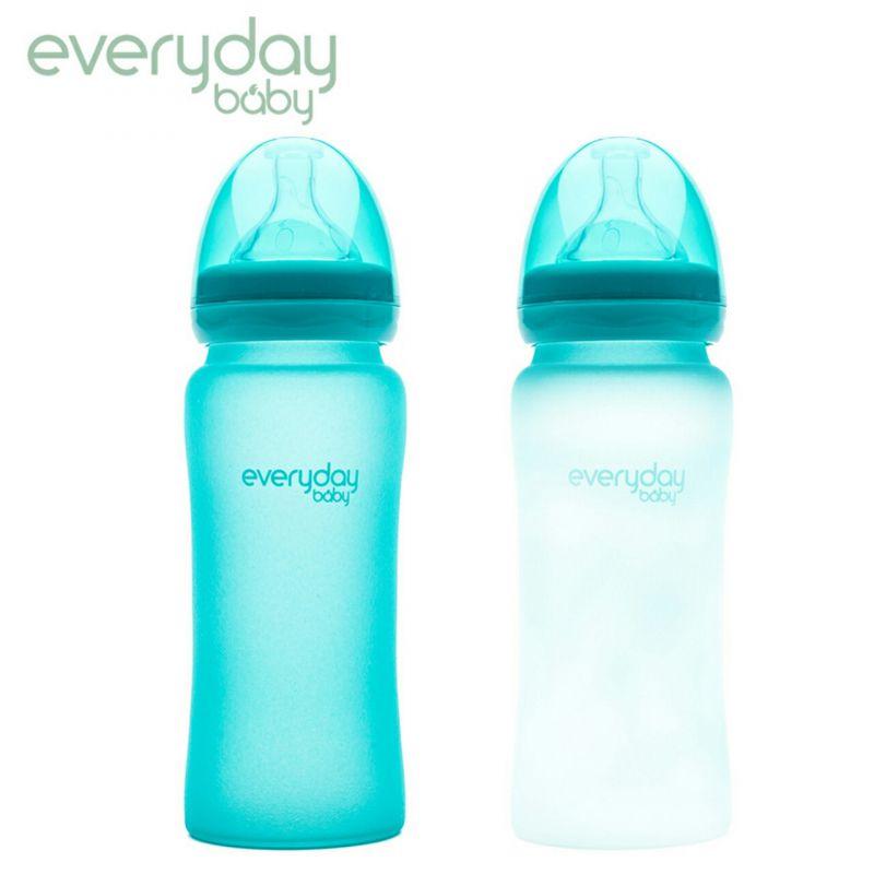 Bình sữa báo ấm cảm ứng nhiệt đổi màu thủy tinh Everyday Baby