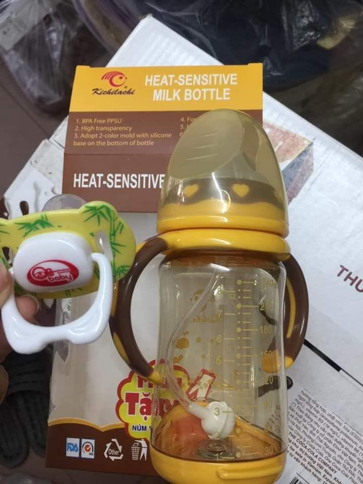 Bình sữa cảm ứng nhiệt Kichilachi