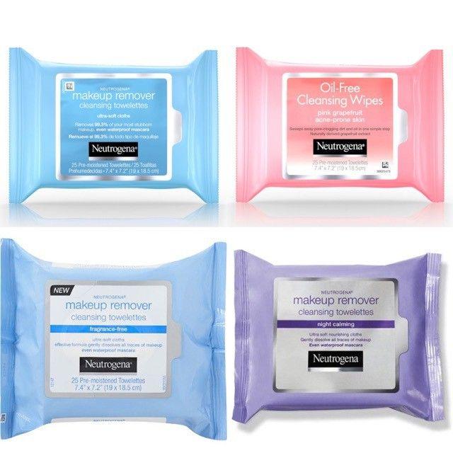 Khăn tẩy trang Neutrogena Night Calming Towelettes & Wipes