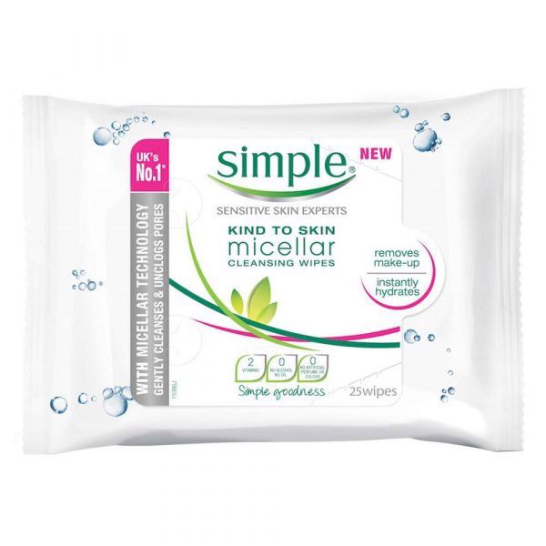 Khăn tẩy trang Simple Kind to Skin Micellar Cleansing Wipes