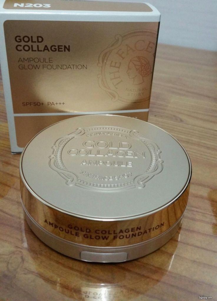 Phấn Tươi Chống Lão Hóa The Face Shop Gold Collagen Ampoule Glow Foundation Spf50+ Pa+++