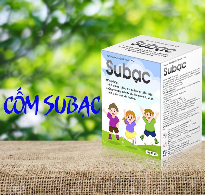 Cốm Subạc  - Giải pháp tăng cường sức đề kháng, giảm triệu chứng và nguy cơ mắc bệnh virus