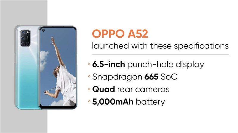 OPPO A52 dùng trận hình LCD