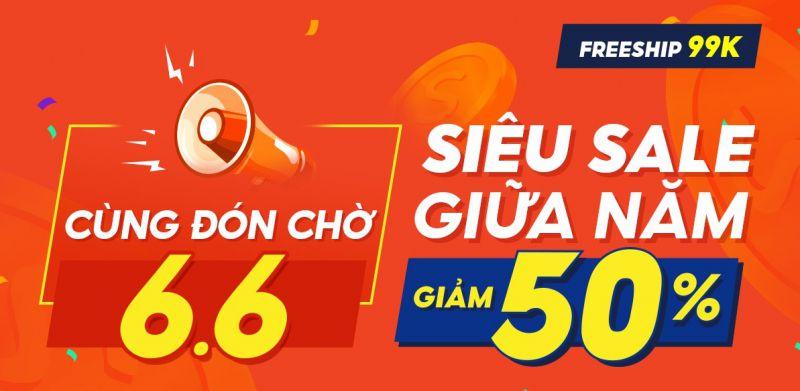 Shopee - 66 Sale giữa năm