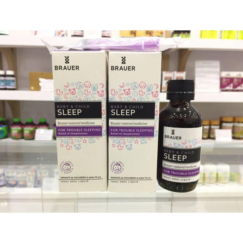 Siro Brauer Sleep thảo dược giúp bé ngủ ngon – sâu giấc