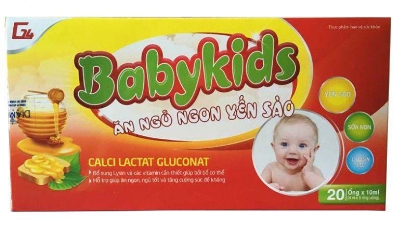 Siro Yến Sào Ăn Ngủ Ngon Babykids Cho Trẻ Biếng Ăn