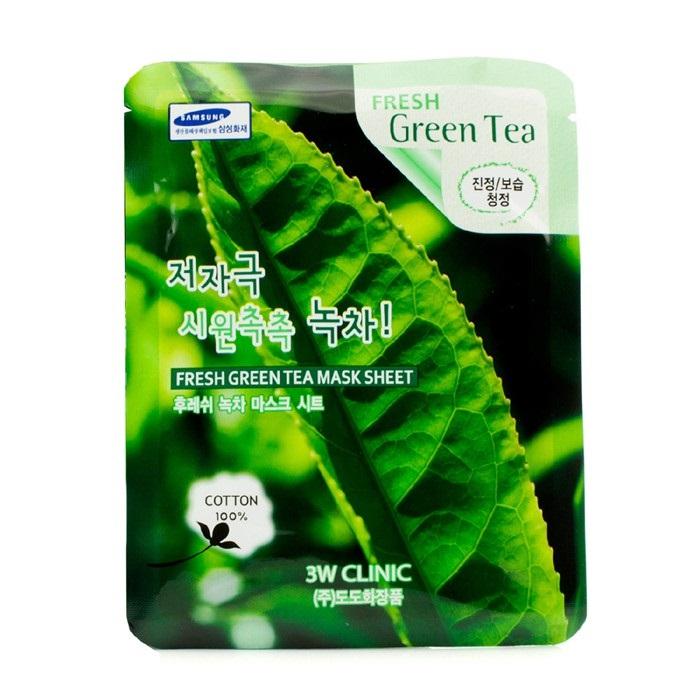 Mặt Nạ 3W CLINIC Chiết Xuất Trà Xanh Fresh Green Tea Mask Sheet