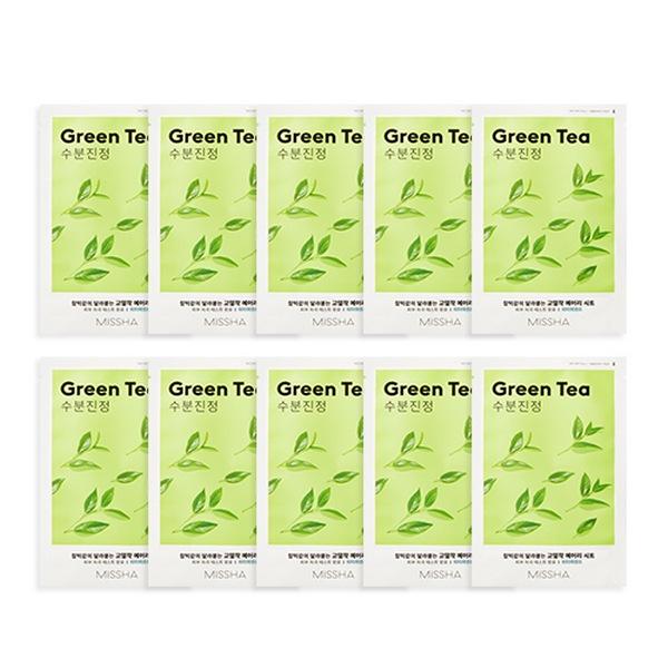 Mặt Nạ Dưỡng Ẩm Làm Dịu Da Tinh Chất Trà Xanh Missha Green Tea Airy Fit Sheet Mask