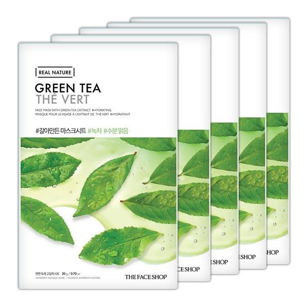 Mặt Nạ Trà Xanh The Face Shop Real Nature Mask Green Tea