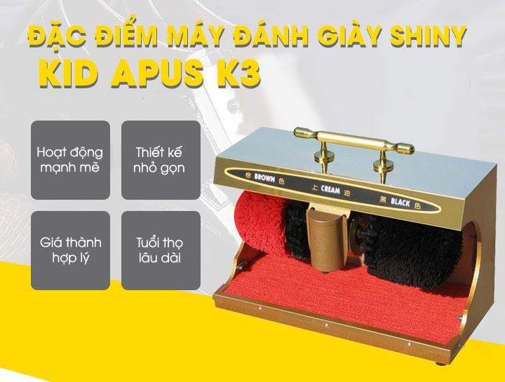 Shiny Kid Apus K3 sở hữu nhiều ưu điểm thu hút khách hàng