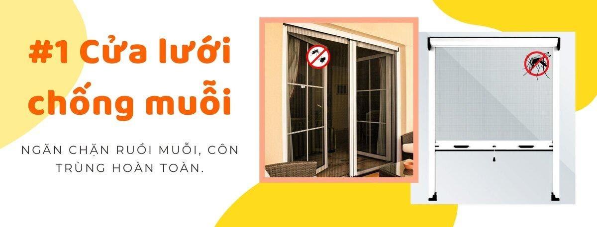 Cửa lưới chống muỗi Lung Linh