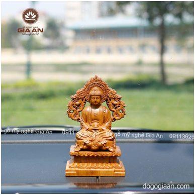 Tượng Phật A Di Đà bằng gỗ để ô tô
