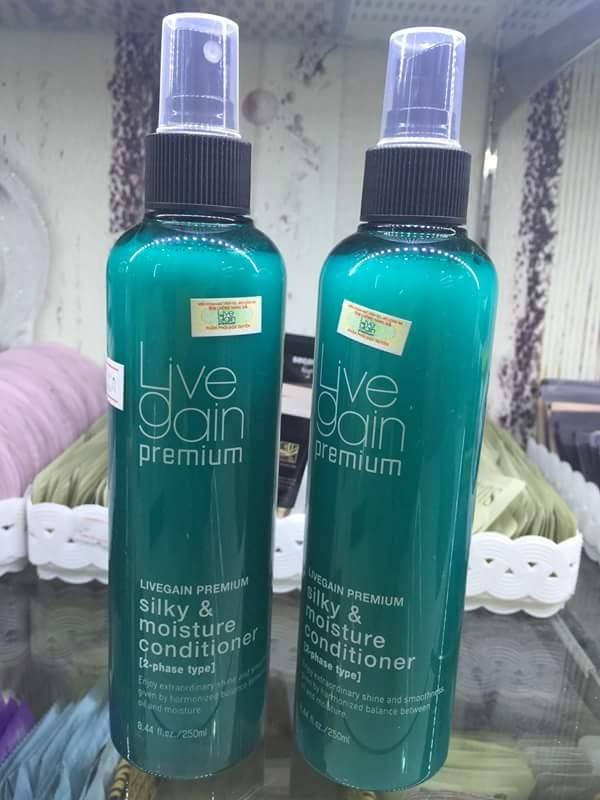 Xịt dưỡng tóc Livegain Silky & Moisture