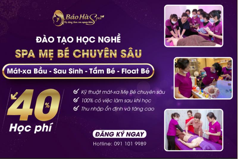 Bảo Hà Spa - Đào tạo tay nghề massage mẹ bé chuyên sâu