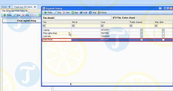 Phần mềm quản lí kho HTsoft InvenToryNET