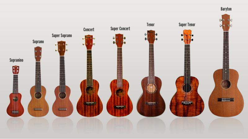 Chơi thử nhiều cây đàn ukulele khác nhau