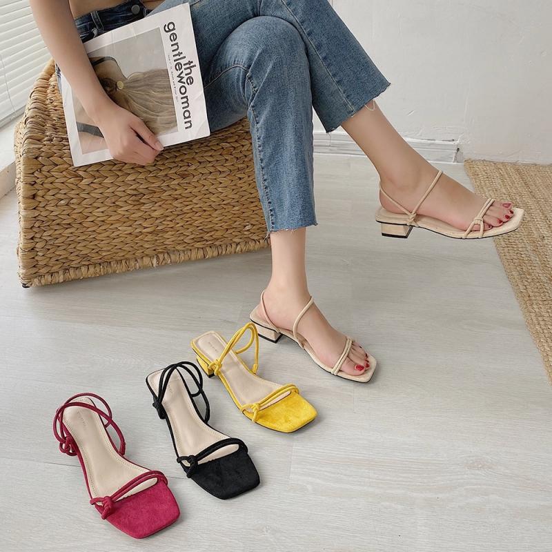 Giày Sandal mũi vuông