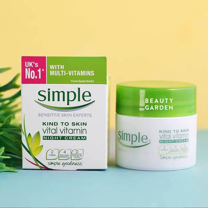 Kem Dưỡng Đêm Simple Kind To Skin Vital Vitamin