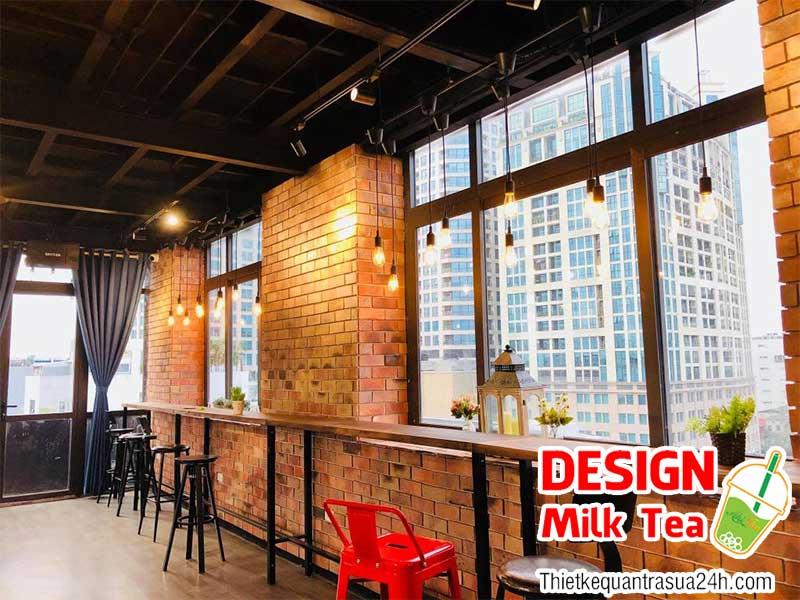 Thiết kế quán trà sữa 24h