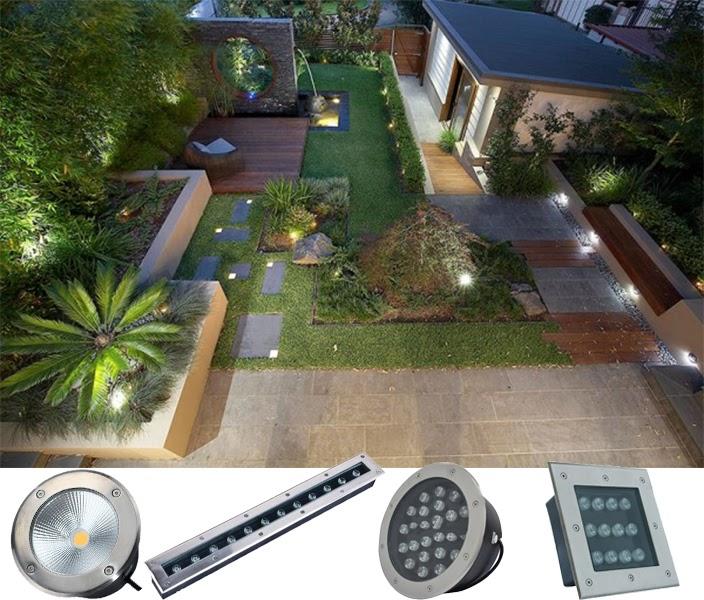 Ứng dụng của đèn LED âm đất chiếu cây