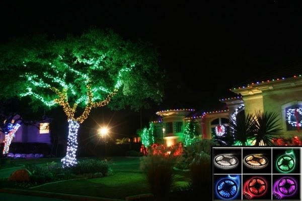 Đèn LED dây chiếu cây có nhiều màu ánh sáng đẹp