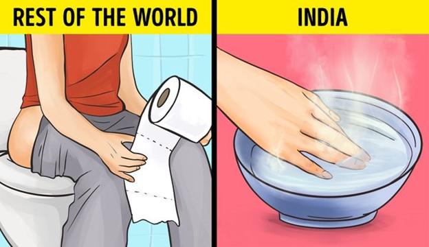 Ấn Độ: không sử dụng giấy vệ sinh