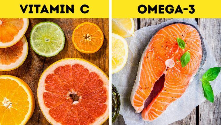 Ăn nhiều thực phẩm giàu Vitamin C và Axit Béo